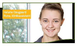 Helene Daugaard Rune i lære som klinikassistent hos TandlægeHuset Horsens